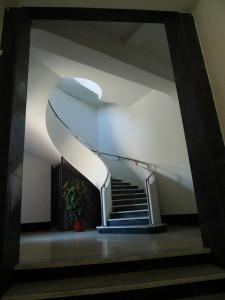 Betonové točité schodiště