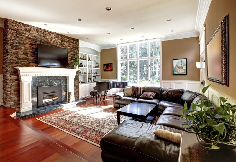 Kamenné obklady do obývacího pokoje